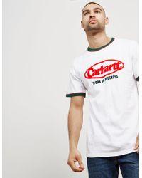 Carhartt WIP - Mens Ringer Oval Short Sleeve T-shirt White/green - Lyst