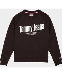 Tommy Hilfiger - Diagonal Logo Sweatshirt Blk/blk - Lyst