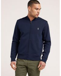 Polo Ralph Lauren - Mens Fleece Track Top Navy, Navy - Lyst