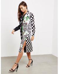 Versus - Womens Check Print Dress Black - Lyst