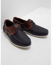 Barbour - Mens Capstan Boat Shoes Navy Blue - Lyst