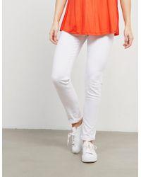BOSS - Womens Orange J20 Mid Rise Jeans White - Lyst
