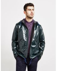 PS by Paul Smith High Shine Hooded Jacket - Online Exclusive Green