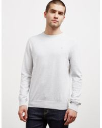 Polo Ralph Lauren - Mens Pima Crew Knit Jumper Grey - Lyst