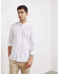 HUGO - Mens Edison Long Sleeve Shirt White - Lyst