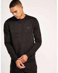 Armani Jeans - Mens Crew Neck Sweatshirt Black - Lyst