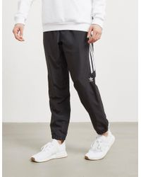 adidas Originals - Mens Woven Cuffed Track Trousers Black - Lyst