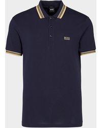 BOSS by Hugo Boss Paddy Basic Short Sleeve Polo Shirt Blue