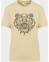 KENZO Tiger Embroidered T-shirt - Brown