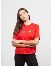 Tommy Hilfiger - Heart Logo Short Sleeve T-shirt Red - Lyst
