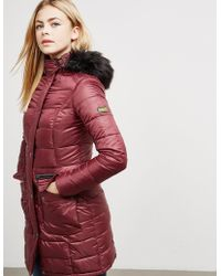 Barbour Womens International Dunnet Padded Jacket Burgundy - Red