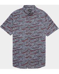 Armani Exchange Logo Short Sleeve Shirt Navy Blue