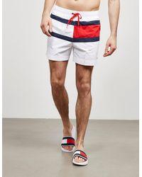 Tommy Hilfiger Flag Front Swim Shorts White