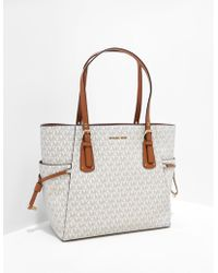 Michael Kors Voyager Signature Tote Bag White