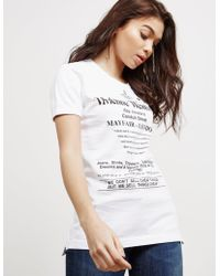 00e6be4eca Vivienne Westwood Anglomania Long Sleeve Nomad Shirt in White - Lyst