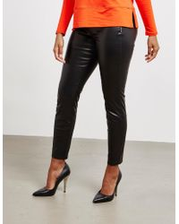 BOSS - Faux Leather Trousers Black - Lyst