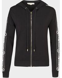 Michael Kors Logo Zip Hoodie - Black