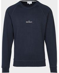Norse Projects Ketel Wave Sweatshirt Blue