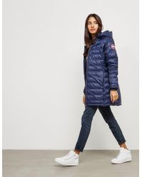 Canada Goose - Womens Camp Hooded Padded Jacket Blue - Lyst