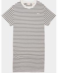 Levi's Levis Logo Stripe T-shirt Dress Navy Blue