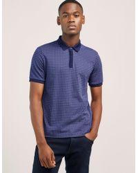 Armani - Mens Prism Short Sleeve Polo Shirt Blue - Lyst