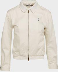 Polo Ralph Lauren Classic Zip Jacket - White