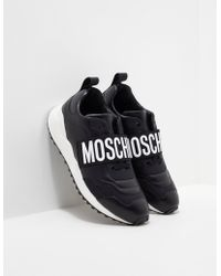 Moschino - Mens Branded Strap Trainers Black - Lyst