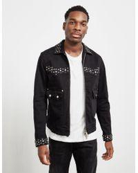 DSquared² Studded Denim Jacket - Online Exclusive Black