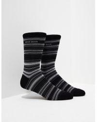 BOSS - Mens Stripe Socks - Online Exclusive Black - Lyst