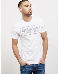 Barbour - Mens International Line Logo Short Sleeve T-shirt White - Lyst