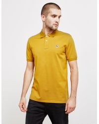 PS by Paul Smith - Mens Zebra Short Sleeve Polo Shirt Yellow - Lyst