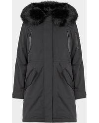 Michael Kors Fur Hooded Parka Jacket - Black