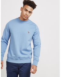 PS by Paul Smith - Mens Basic Zebra Crew Sweatshirt Blue - Lyst