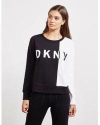 DKNY - Womens Block Sweatshirt Black - Lyst