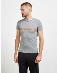 Emporio Armani Band Crew Short Sleeve T-shirt Grey