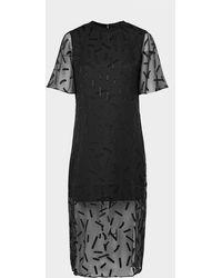 Armani Exchange Stick Logo Dress - Black