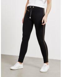Barbour - Womens International Zip Track Trousers Black - Lyst