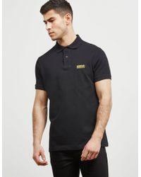 Barbour - Mens International Short Sleeve Polo Shirt Black - Lyst