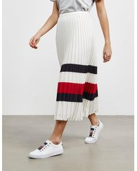 Tommy Hilfiger Icon Pleated Skirt White