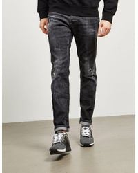 DSquared² Slim Distressed Jeans Black
