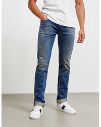 Stone Island - Mens Regular Washed Jeans Blue - Lyst
