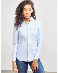 Polo Ralph Lauren Heidi Long Sleeve Shirt Blue