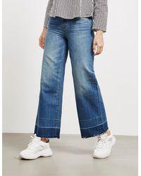 Armani Exchange Vintage Wide Cropped Jeans - Blue
