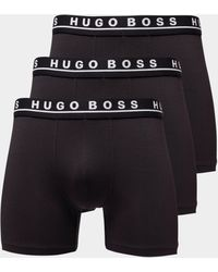 BOSS - Mens 3-pack Boxer Shorts Black - Lyst