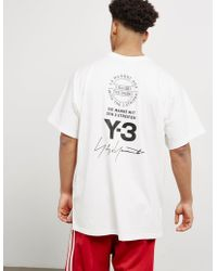 Y-3 - Mens Stag Logo Short Sleeve T-shirt White - Lyst