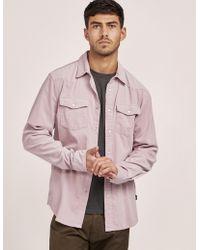 Stussy - Mens Western Long Sleeve Shirt Pink - Lyst