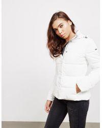 Emporio Armani - Womens Blouson Padded Jacket White - Lyst