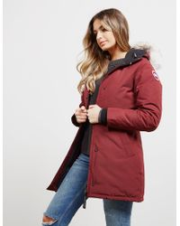 Canada Goose Victoria Padded Parka Jacket Red