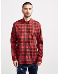 DSquared² Tartan Long Sleeve Shirt - Online Exclusive - Red