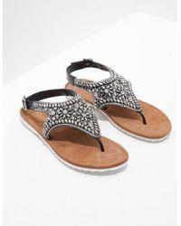 Ilse Jacobsen Sparkle Jewel Sandals Black